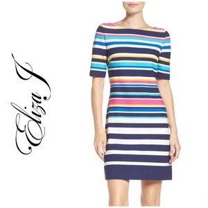 NWT!  Eliza J. Multicolored Striped Dress
